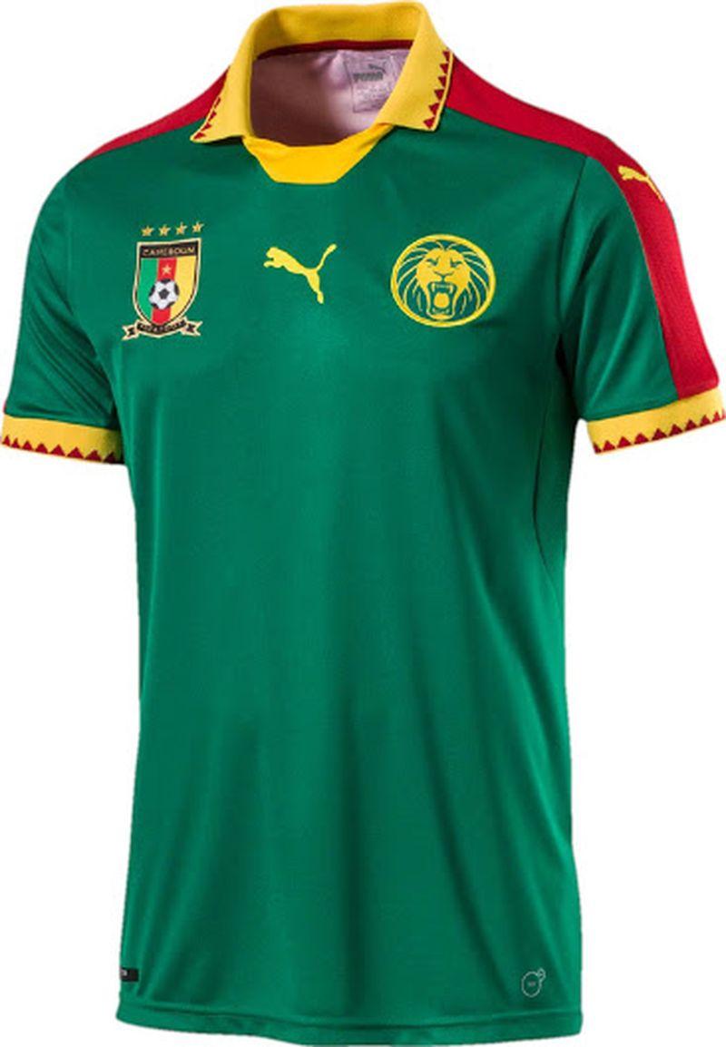 Maillot domicile Cameroun Puma CAN 2017