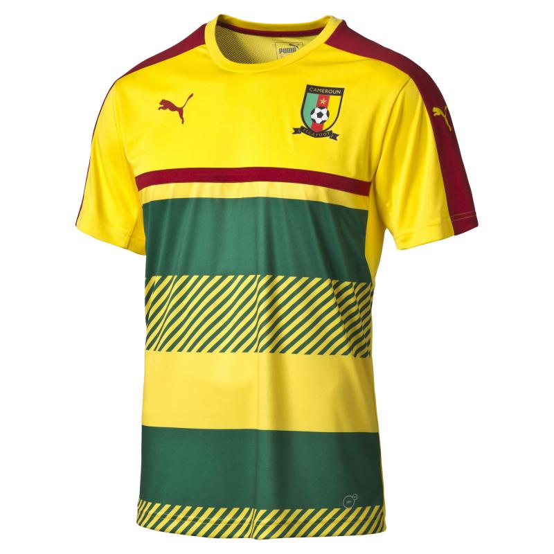 Maillot Training Puma jaune et vert CAN 2017