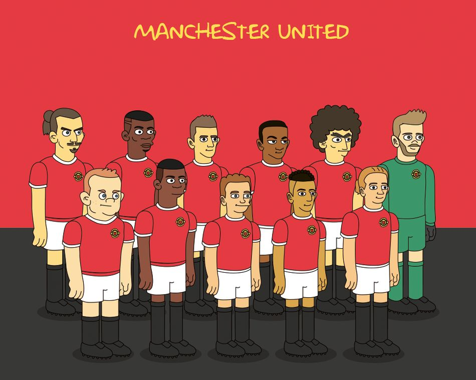 Maillot Manchester United Simpson