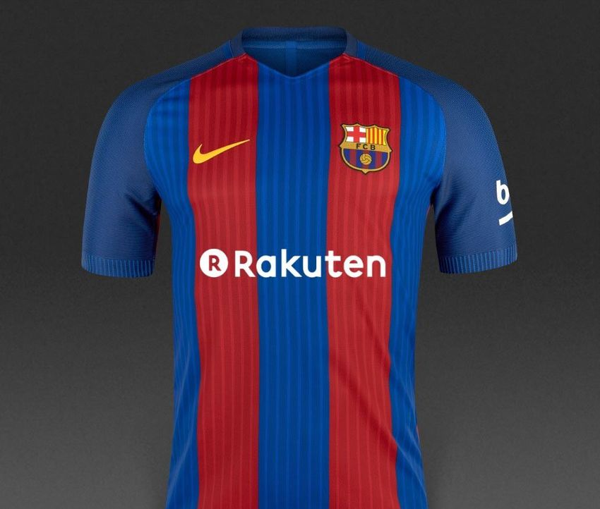 Projection futur maillot Barça 2017-18 avec sponsor maillot Rakuten