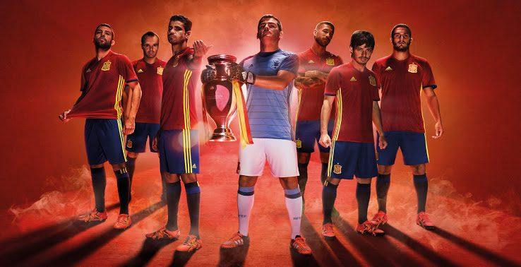 maillot domicile Espagne Adidas Euro 2016