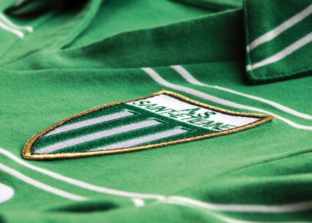 Ancien logo Saint-Etienne maillot Super Telé Le Coq Sportif 1981