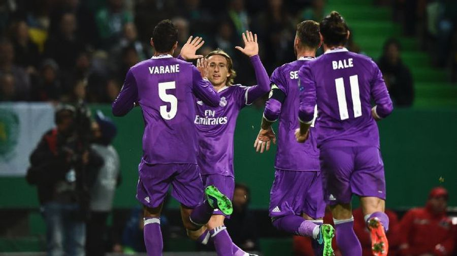 Joie des joueurs du Real Madrid à Lisbonne en Ligue des Champions
