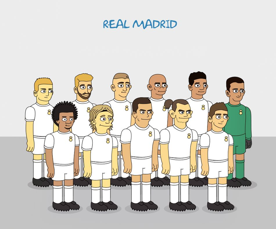 Maillot domicile Real Madrid revisité par les Simpson