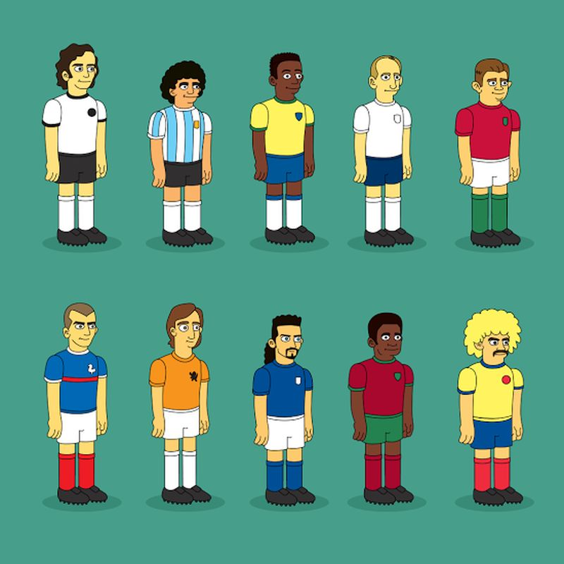 Stars du foot en version Simpson