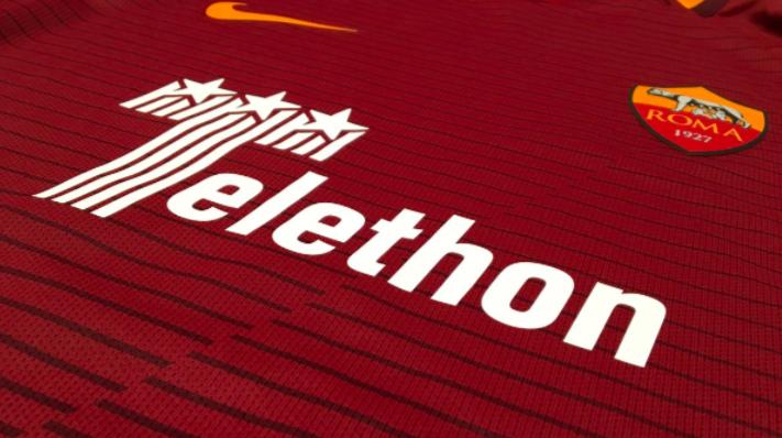 Le maillot spécial de l'AS Roma pour soutenir le Téléthon