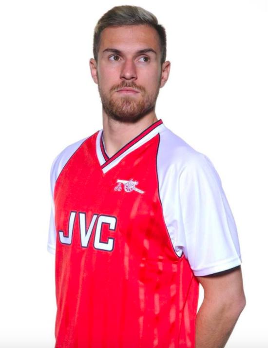 Ramsey et le maillot domicile d'Arsenal 1988