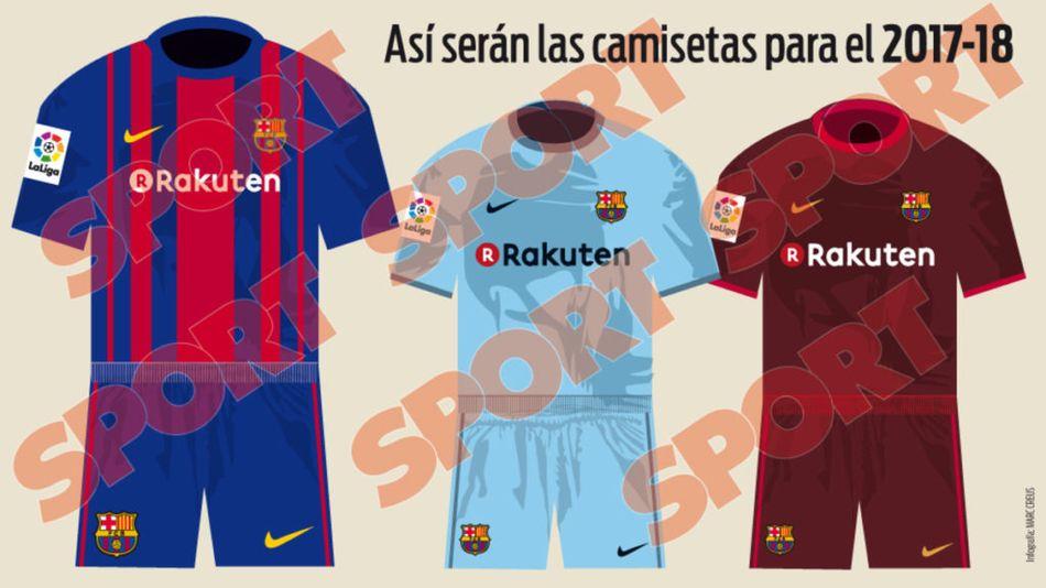 Les maillots domicile, extérieur et Third du Barça 2017-18