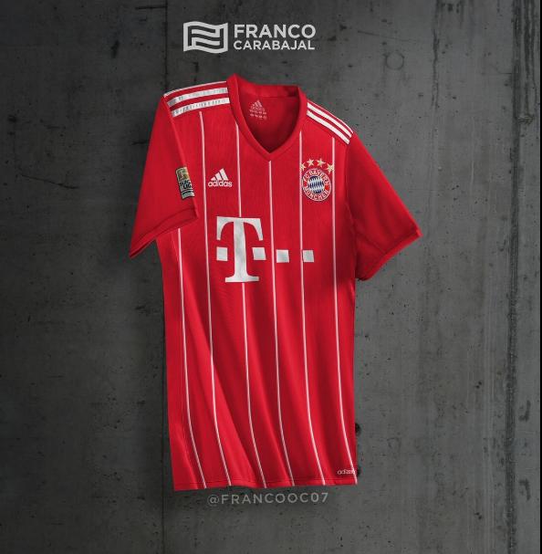 Le maillot domicile du Bayern Munich 2017-18 ?