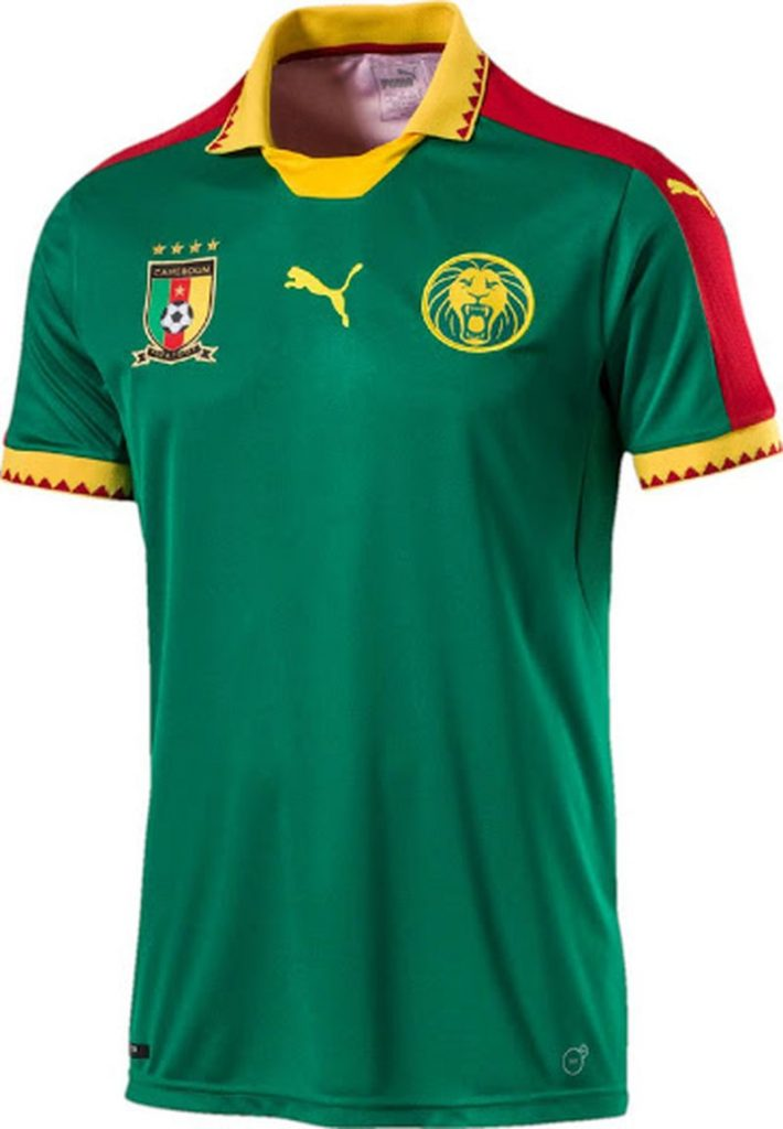 Le maillot du Cameroun pour la CAN 2017