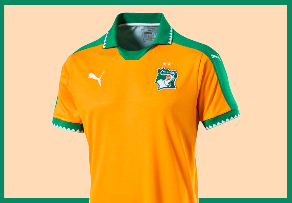 Le maillot de la Côte d'Ivoire pour la CAN 2017