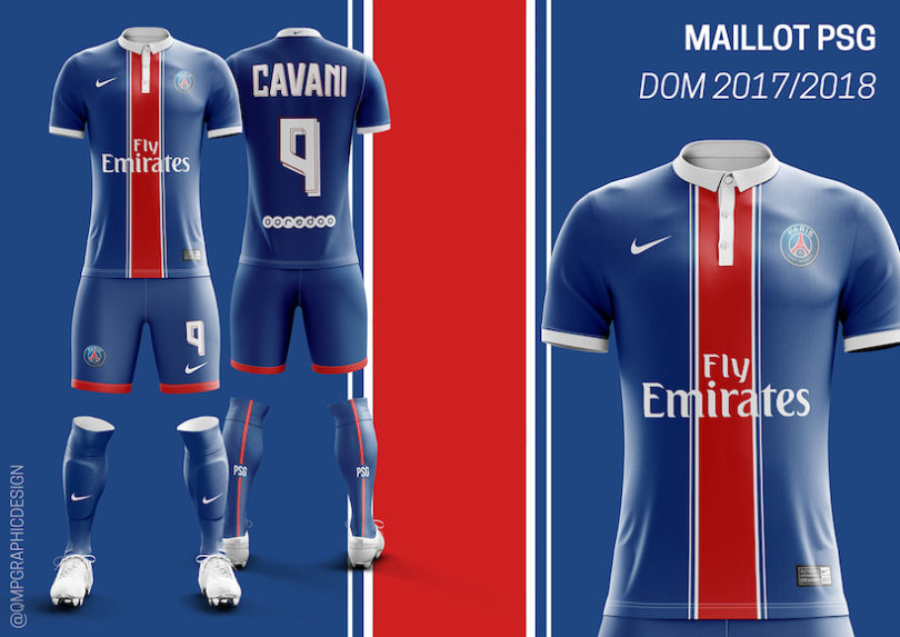 Le maillot domicile du PSG 2017-2018 version Quentin Martins Pereira